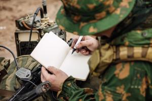 wireless operator taking notes Shrike Airsoft